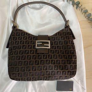FENDI Zucchino Shoulder Bag Authentic
